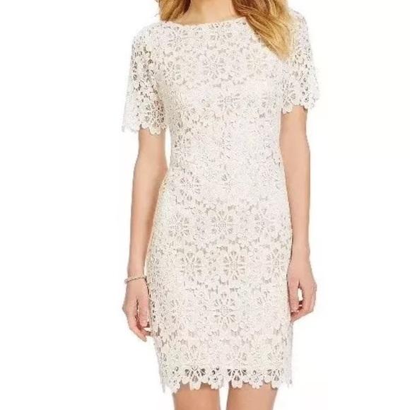 "56d4052637b Antonio Melani ""Edith"" Floral Lace Dress Ivory 2"